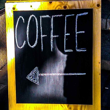 Coffee shop sign: simple and clear